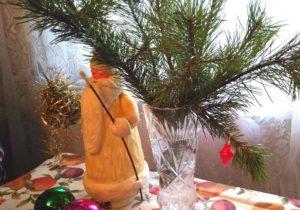 Старинный Дед Мороз из ваты