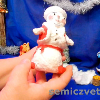 Игрушка из ваты Снеговик