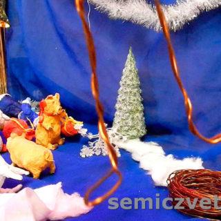 Петля в проволочном каркасе для ступни игрушки из ваты