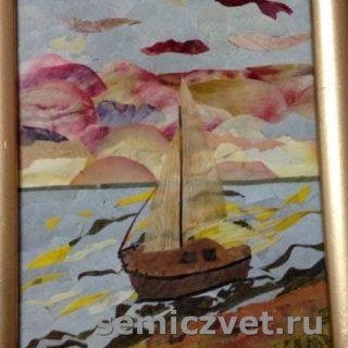 Людмила Крысина. «Азовский закат». Флористика. 2016