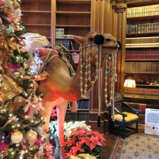 Верблюд у Рождественской ёлки. Выставка «Рождество Христово в искусстве». Даллас. Техас