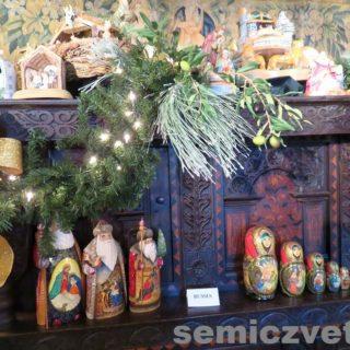 Рождественские деревянные сувениры. Выставка «Рождество Христово в искусстве». Даллас. Техас