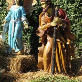 Плотник Иосиф и Ангел Господень. Выставка «Рождество Христово в искусстве». Даллас. Техас