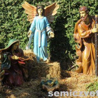 Дева Мария и младенец Христос, плотник Иосиф, Ангел. Выставка «Рождество Христово в искусстве». Даллас. Техас