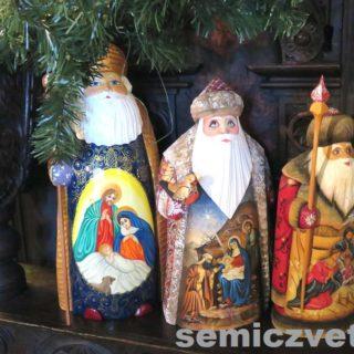 Деды Морозы. Выставка «Рождество Христово в искусстве». Даллас. Техас