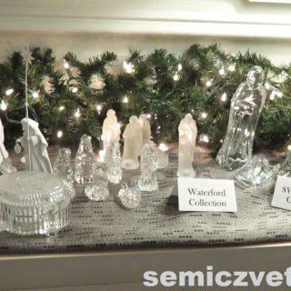 Статуэтки из хрусталя. Waterford Crystal и Swarovski Crystal. Выставка «Рождество Христово в искусстве». Даллас. Техас
