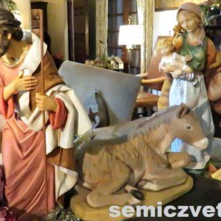 Плотник Иосиф, Дева Мария с младенцем. Выставка «Рождество Христово в искусстве». Даллас. Техас