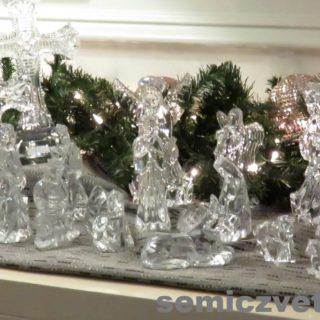 Фигурки из хрусталя. Waterford Crystal. Выставка «Рождество Христово в искусстве». Даллас. Техас
