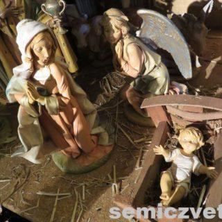 Ангел, Дева Мария и младенец Христос. Выставка «Рождество Христово в искусстве». Даллас. Техас