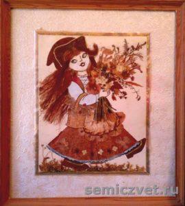 Г.Мачульская. Прессованная флористика. «Красная Шапочка». 2003