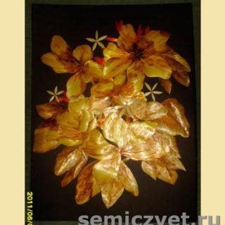 Ирина Паросова. «Орхидеи» (30х40). Соломка