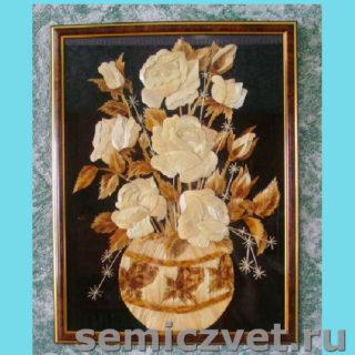 Ирина Паросова. «Букет роз» (30х40). Соломка