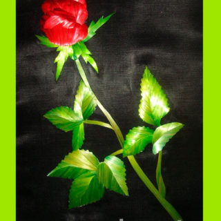 Ирина Паросова. «Бутон розы» (21х30). Соломка