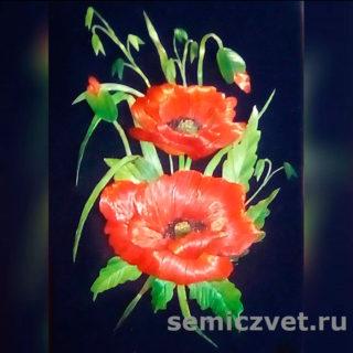 Ирина Паросова. «Маки» (21х30). Соломка
