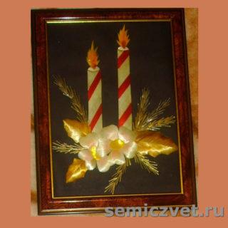 Ирина Паросова. «Рождественский букет» (18х24). Соломка