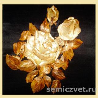 Ирина Паросова. «Роза» (35х35). Соломка