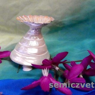 Подставка под пасхальное яйцо из морских ракушек своими руками