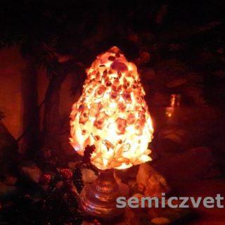 Идея пасхального яйца из морских ракушек