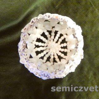 Дизайн пасхального яйца из морских ракушек. Этап работы